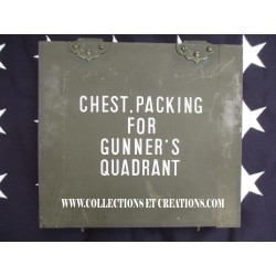 CHEST, PACKING FOR GUNNER'S QUADRANT WW2