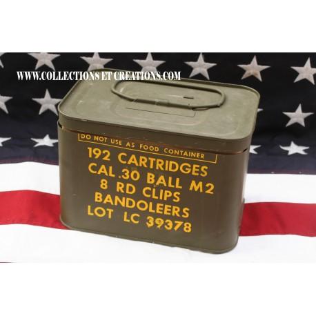 BOX 192 CARTRIDGES Cal.30 BALL M2 WW2