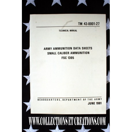ARMY AMMUNITION DATA SHEETS SMALL CALIBER AMMUNITIONS 06/1981