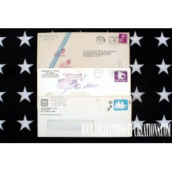 LOT 3 ENVELOPPES USA US POSTAGE