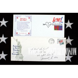 LOT 2 ENVELOPPES USA LIBERTY