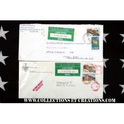 LOT 2 ENVELOPPES USA CERTIFIED