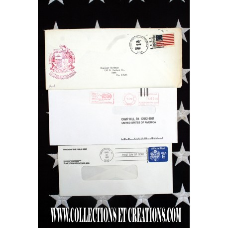 LOT 3 ENVELOPPES USA U.S.N. - FIRST DAY