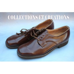 CHAUSSURES CUIR AMEE TCHEQUE TYPE U.S WW2