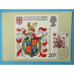 CARTE MAXIMUM COLLEGE OF ARMS 1984