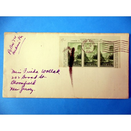 ENVELOPPE USA 14 FEV 1935