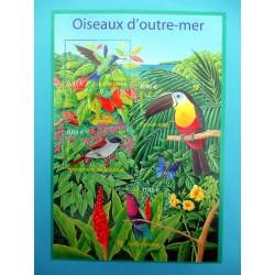 BLOC FEUILLET OISEAUX D'OUTRE MER 2003