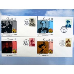 FDC CHURCHILL CENTENARY COLLECTION 1974