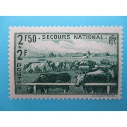 TIMBRE 2F50+2F AU PROFIT DU SECOURS NATIONAL 1940