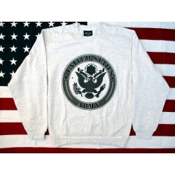 SWEAT-SHIRT GRIS US ARMY
