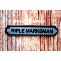 PATCH RIFLE MARKSMAN TAB GREY