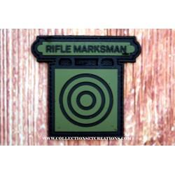 PATCH 3D PVC RIFLE MARKSMAN GREEN