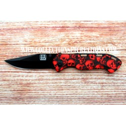 COUTEAU SKULL RED