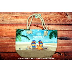 SAC DE PLAGE HELLO SUMMER BEACH