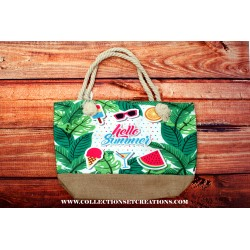 SAC DE PLAGE HELLO SUMMER FRUITS