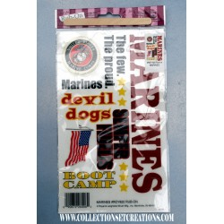 SCRAPBOOK STICKERS MARINE CORPS