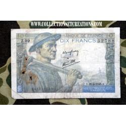BILLET 10FR 26.04.1945