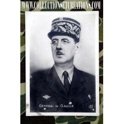 CARTE PHOTO GENERAL DE GAULLE