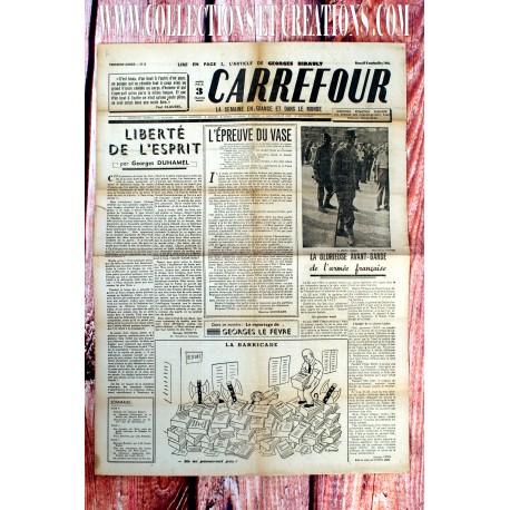 LOT 2 JOURNAUX CARREFOUR AOUT/SEP 1944
