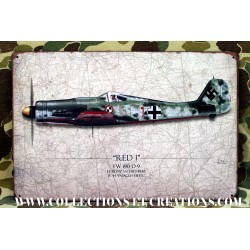 "PLAQUE FW 190 D-9 ""RED 1"" WW2"